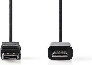 Nedis DisplayPort til HDMI™-kabel   DisplayPort-hanstik - HDMI™-stik   1,0 m   Sort, CCGP37100BK10