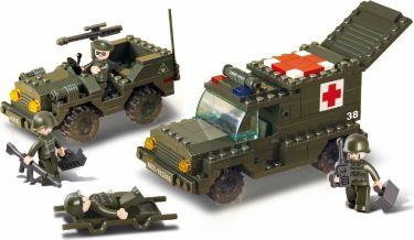 Sluban Byggeklodser Army Serie Ambulance, M38-B6000