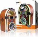 Transportable Radio, basicXL Table Radio Jukebox FM / AM CD Brown, BXL-JB10