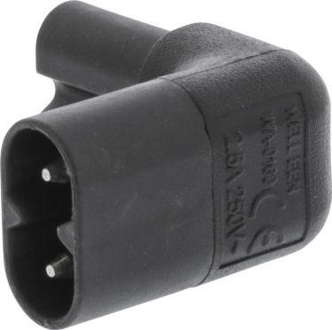 Valueline Power Plug Male - Female Black, VLEP11912B