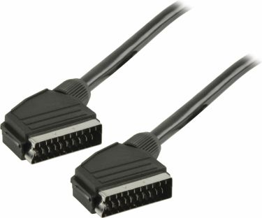 Valueline SCART Cable SCART Male - SCART Male 5.00 m Black, VLVT31000B50