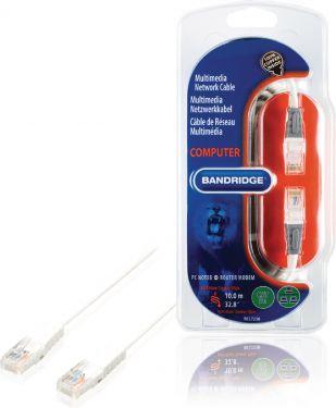 Bandridge CAT5e UTP Network Cable RJ45 (8P8C) Male - RJ45 (8P8C) Male 10.0 m White, BCL7210