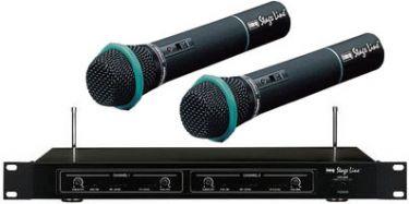 Dobbelt Trådløst Mikrofon System til sang og tale