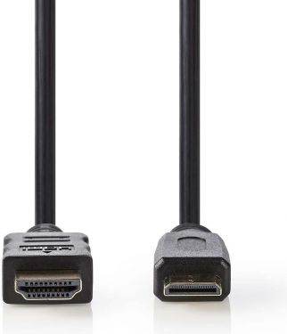 Nedis High Speed HDMI™-kabel med Ethernet | HDMI™-stik - HDMI™-ministik | 2,0 m | Sort, CVGP34500BK2