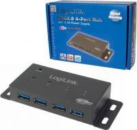 """<span class=""""c10"""">LogiLink -</span> USB 3.0 HUB 4 port inkl. Strømforsyning (3,5A) til montage"""