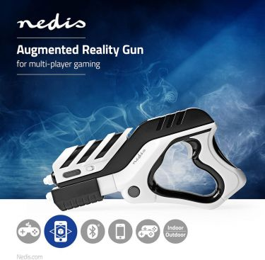 Nedis Augmented reality-pistol   Multiplayer   Sort/hvid, ARGG100BW