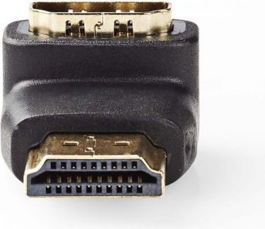 Nedis HDMI Adapter | HDMI Connector - HDMI Female | 90° Angled | Black, CVGP34901BK