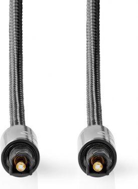 Nedis Digitalt lydkabel | TosLink-hanstik – TosLink-hanstik | Metalgrå | Skærmet kabel, CATB25000GY1
