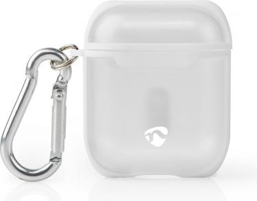 Nedis AirPods 1 and AirPods 2 Case | Transparent / White, APCE100TPWT