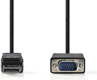 Nedis DisplayPort - VGA Cable | DisplayPort Male - VGA Male | 1.0 m | Black, CCGP37300BK10