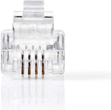 Nedis Telecom Connector | RJ11 male | 10 pieces, TCGP90923TP