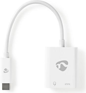 Nedis USB-C Adapter | USB-C Male - 3.5 mm Female + USB-C Female | 0.15 m | White, CCBP65955WT015