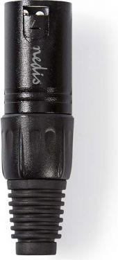 Nedis XLR Connector | XLR 3-pin Male | Black, COTP15900BK