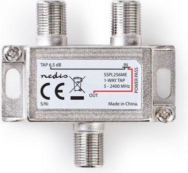 Nedis Satellittap F-splitter | Maks. 6 dB dæmpning | 5-2400 MHz | 1 udgang, SSPL256ME