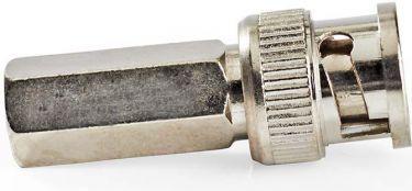 Nedis BNC-stikforbindelse | Han | Til 5,0mm koaksialkabler | 25 stk. | Metal, CVVC01902ME