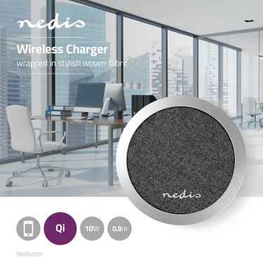 Nedis Fabric Wireless Charger | 2.0 A | 10 W | Black, FSWC10W100BK