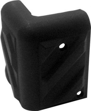 Højttalerkabinet-hjørne Sort plast, 55x35mm x 90° (1 stk.)