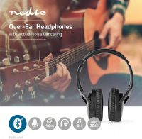 Nedis Trådløse hovedtelefoner | Bluetooth® | Over-ear | Active Noise Cancelling (ANC) | Sort, HPBT22