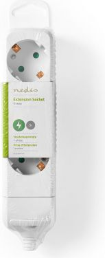 Nedis Extension socket   Protective Contact   3-Way   White, EXSO300F1WT