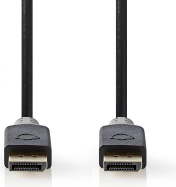 Nedis DisplayPort 1.4-kabel | DisplayPort-hanstik - DisplayPort-hanstik | 2,00 m | Koksgrå, CCBW3701