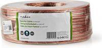 Nedis Speaker Cable | 2x 2.50 mm2 | 100 m | Wrap | Transparent, CAGW2500TR1000