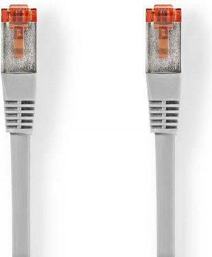 Nedis Cat 6 S/FTP Network Cable | RJ45 (8P8C) Male - RJ45 (8P8C) Male | 10 m | Grey, CCGB85221GY100