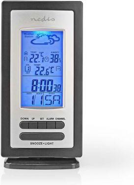 Nedis Weather station | Alarm | Hygrometer | Outdoor sensor, WEST201GY