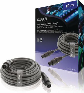 Sweex Speaker Cable Speaker 2-Pin Female - Speaker 2-Pin Female 10.0 m Dark Grey, SWOP16000E100