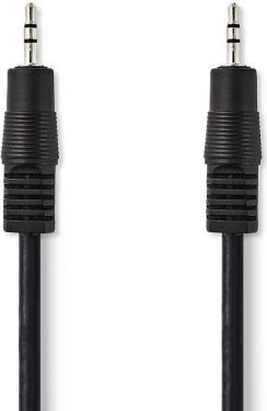Nedis Stereo Audio Cable   2.5 mm Male - 2.5 mm Male   1.0 m   Black, CAGP21000BK10