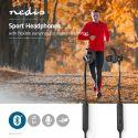 Høretelefoner, Nedis Sportshovedtelefoner | Bluetooth | In-Ear | Fleksibel Ledning | Sort, HPBT8000BK
