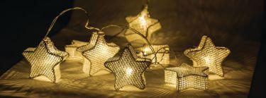 HQ String Light Star 10 LED 2.1 m, HQLEDSLSTAR