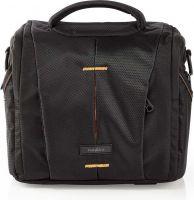 Nedis Camera Shoulder Bag   220 x 190 x 120 mm   3 Inside pockets   Black / Orange, CBAG210BK