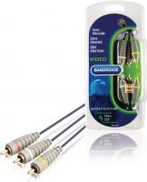 Bandridge Composite Video Cable 3x RCA Male - 3x RCA Male 10.0 m Blue, BVL5310