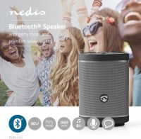 Nedis Bluetooth® Speaker | 90 W | Party Mode up to 100 Speakers | Voice Control | Black / Gun Metal