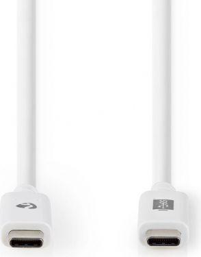 Nedis USB 3.1-Kabel (Gen2) | USB-C™-Hann – USB-C™-Hann | 1,0 m | Hvit, CCGW64750WT10