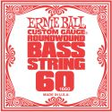 Bas Strenge, Ernie Ball EB-1660, Single .060 Nickel Wound string for Electric Bass