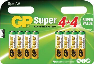 GP Alkaline Battery AA 1.5 V Super 8-Promotional Blister, 03015ADHC8