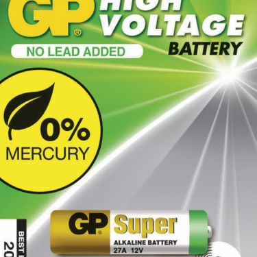GP Alkaline Battery 27A 12 V Super 1-Blister, 10027AC1