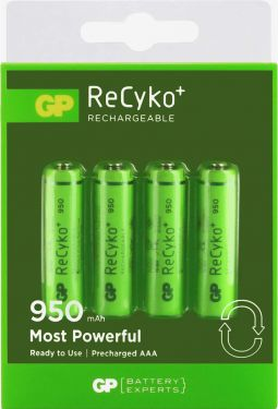 GP Genopladeligt Nimh Batteri Aaa 1.2 V 950 mAh 4-Bobler, 120100AAAHCC4