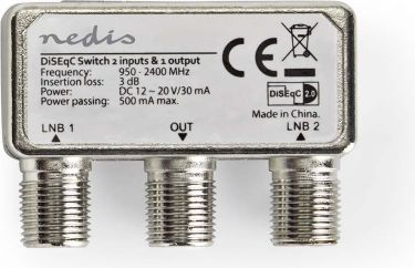 Nedis DiSEqC Switch | 2 to 1 | F-Connector | 950 - 2400 MHz, SSWI200WT
