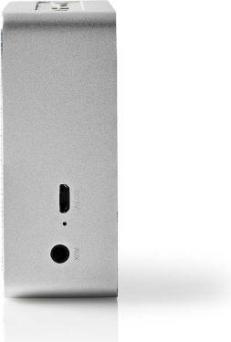 Nedis Bluetooth®-højttaler | 15 W | Metaludformet design | Aluminiumsølv, SPBT1002AL