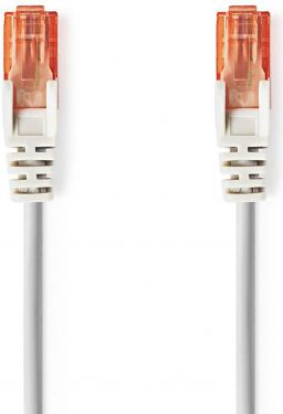 Nedis Cat 6 UTP Network Cable | RJ45 (8P8C) Male - RJ45 (8P8C) Male | 0.25 m | Grey, CCGT85200GY025
