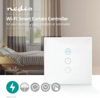 Nedis WiFi Smart Wall Switch | Curtain, shutter or sunshade controller, WIFIWC10WT