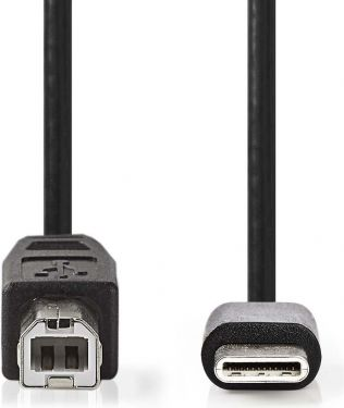 Nedis USB 2.0 Cable | Type-C Male - B Male | 1.0 m | Black, CCGP60650BK10