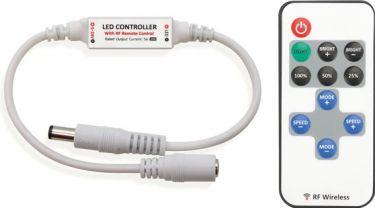 "<span class=""c10"">VelLight -</span> Mini 1-kanals LED lysdæmper Med RF fjernbetjening"