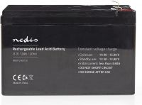 Nedis Genopladeligt blybatteri 12V   12000 mAh   151 x 98 x 95 mm, BALA1200012V