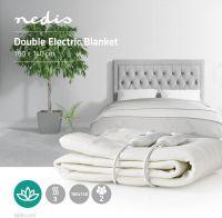 Nedis Double Electric Blanket | 140 x 160 cm | 3-Heat Settings | Indicator Light | Overheat protecti
