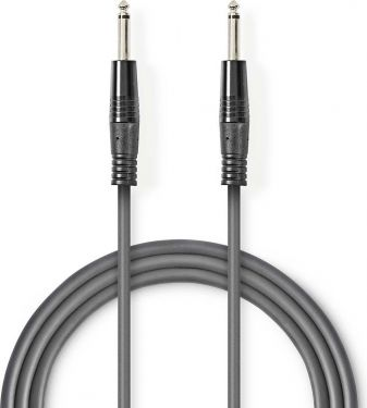 Nedis Unbalanced Audio Cable   6.35 mm Male - 6.35 mm Male   1.5 m   Grey, COTH23000GY15