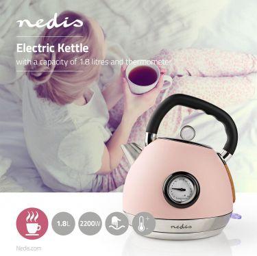 Nedis Elkedel | 1,8 L | Soft-Touch | Pink, KAWK530EPK