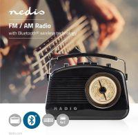 Nedis UKW-radio | 5,4 W | Bluetooth® | Bærehåndtag | Sort, RDFM5010BK